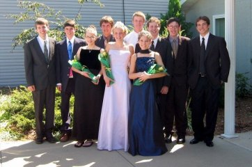 My friends an I on the way to the Homeschool Prom...no joke