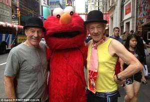 Patrick Stewart and his friend Sir Ian McKellen